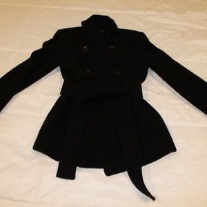 Zara Black Wool Pea Coat